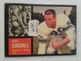 1962 Topps #53 Gail Cogdill Team: Detroit Lions - $2.80