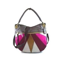 New Fossil Women Karli Leather Small Hobo Bags Pink Multi Color - $138.59