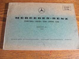 Mercedes-Benz Type 190C 190Dc 200 230 200D Parts Catalog Manual W110 196... - $43.56