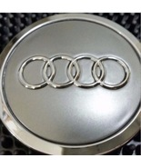4 pcs Audi Wheel center cap Gray Chrome Logo 70 MM #4B0601170A - $17.81