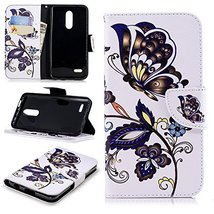 XYX Wallet Phone Case for LG K10 2018,[Wrist Strap][Kickstand] Painted D... - $9.88