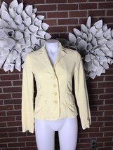 VINCE Women's 2 Yellow Corduroy Button Down Blazer Jacket Coat Euc - $27.81