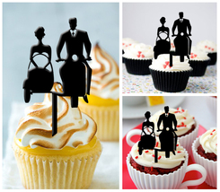 Ca92 Decorations cupcake toppers i love my wedding vespa Package : 10 pcs - $10.00