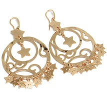 Drop Earrings 925 Silver, Stars, Disco Perforated, Wavy, le Favole image 1