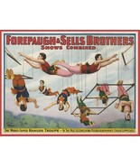 Wall Decoration Poster.Room art design.Circus Acrobats family Forepaugh.... - $10.89+