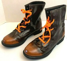 Qupid Brown Ankle Boot  Lace Up Shoes Size 10 - $29.65