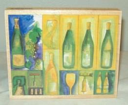 Stamps Happen Michael Clark Wine Collage Stamp #90290 Bottles Wood - $5.99