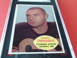 1960   GEORGE   TARASOVIC   #  100   TOPPS   STEELERS    SGC  70    FOOT... - $24.99