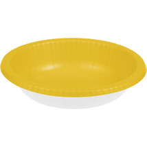 Touch of Color 20 oz Paper Bowl  Schoolbus Yellow/Case of 200 - €48,45 EUR