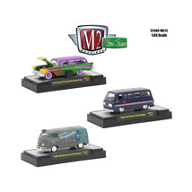 Wild Cards Set of 3 WITH CASES Release WC13 1/64 Diecast Model Cars by M... - $33.79