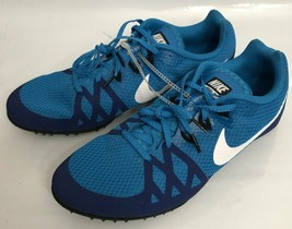Nike Zoom Rival M Racing Multi-Use Shoes Blue w/o spikes 806555-414 Size 11.5 - $28.04