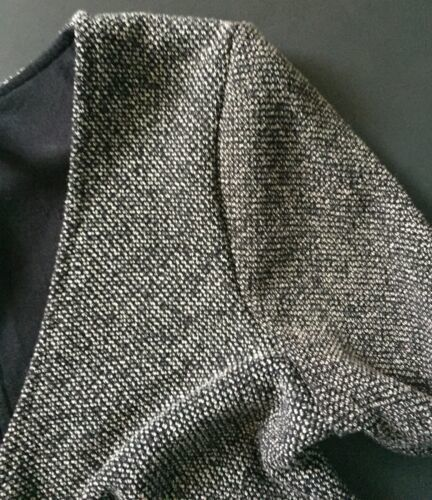 Free People Dress XS S Charcoal Gray White Keyhole Back V-Neck Versatile