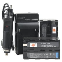 DSTE 2x NP-F750 Battery   DC01 Travel and Car Charger Adapter for Sony C... - $31.60