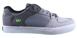 Supra Men's Vaider Low Fade Grey/White Nylon Skateboard Shoes Sneaker S36042 NIB