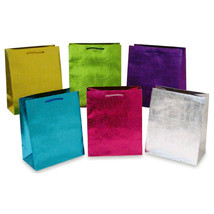 10 1/2W x 13H x 5 1/2G Large Embossed Wave Pattern On Kraft Gift Bag, 6 ... - €189,80 EUR