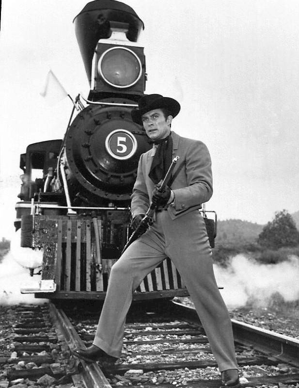 Wild Wild West Robert Conrad as Jim James train  4 x 6 new reprint Awesome!