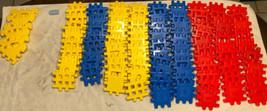 "Vintage Little Tikes Wee Waffle Blocks 106 Pieces 4"" Blocks 0721!!! - $74.25"