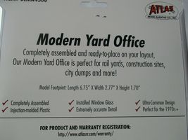 Atlas  #BLMA4300 Modern Yard Office  Completely Assembled (1970s) HO-Scale image 3