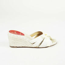 Christian Louboutin Espadrille Wedge Slide Sandals SZ 40 - $335.00