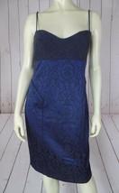 Cynthia Steffe Dress 8 NEW $315 Blue Gray Floral Sheath Viscose Wool Ble... - $117.81