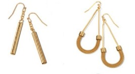 Avon Structured Metals Earrings - Gold tone - NIB Choose your Style - $10.50