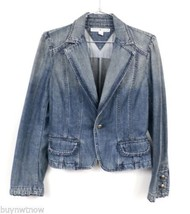 Tommy Hilfiger 100% Cotton Solid  Blue Denim Jacket Victorian Style PS P... - $38.61