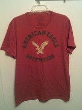 AMERICAN EAGLE OUTFITTERS ~ Men's Large ~  Athletic Fit Tee Red T-Shirt - $189,54 MXN