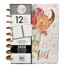 Happy Planner 2020 Stay Wild Pink Flower Skull Monthly Layout me & my Bi... - $17.34