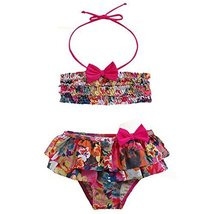 Cute Baby Girls Colorful Beach Suit Lovely Swimsuit 1-2 Years Old(80-90cm)