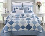 Donna Sharp Azure Diamond Cotton 3pc Quilt Set - $160.00 - $200.00