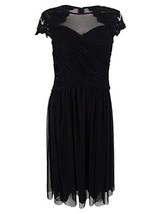 Alex Evenings Women's Embellished Illusion A-Line Dress, Black, 12P - $74.24