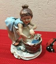 """Capodimonte La Medea Washing Lady Figurine by Rori Made In Italy 6"""" x 5"""" x 4"""" - $150.00"""