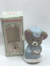 Vintage jasco Bedtime Critters Porcelain Bell Christmas Xmas Taiwan 25189 - $14.80