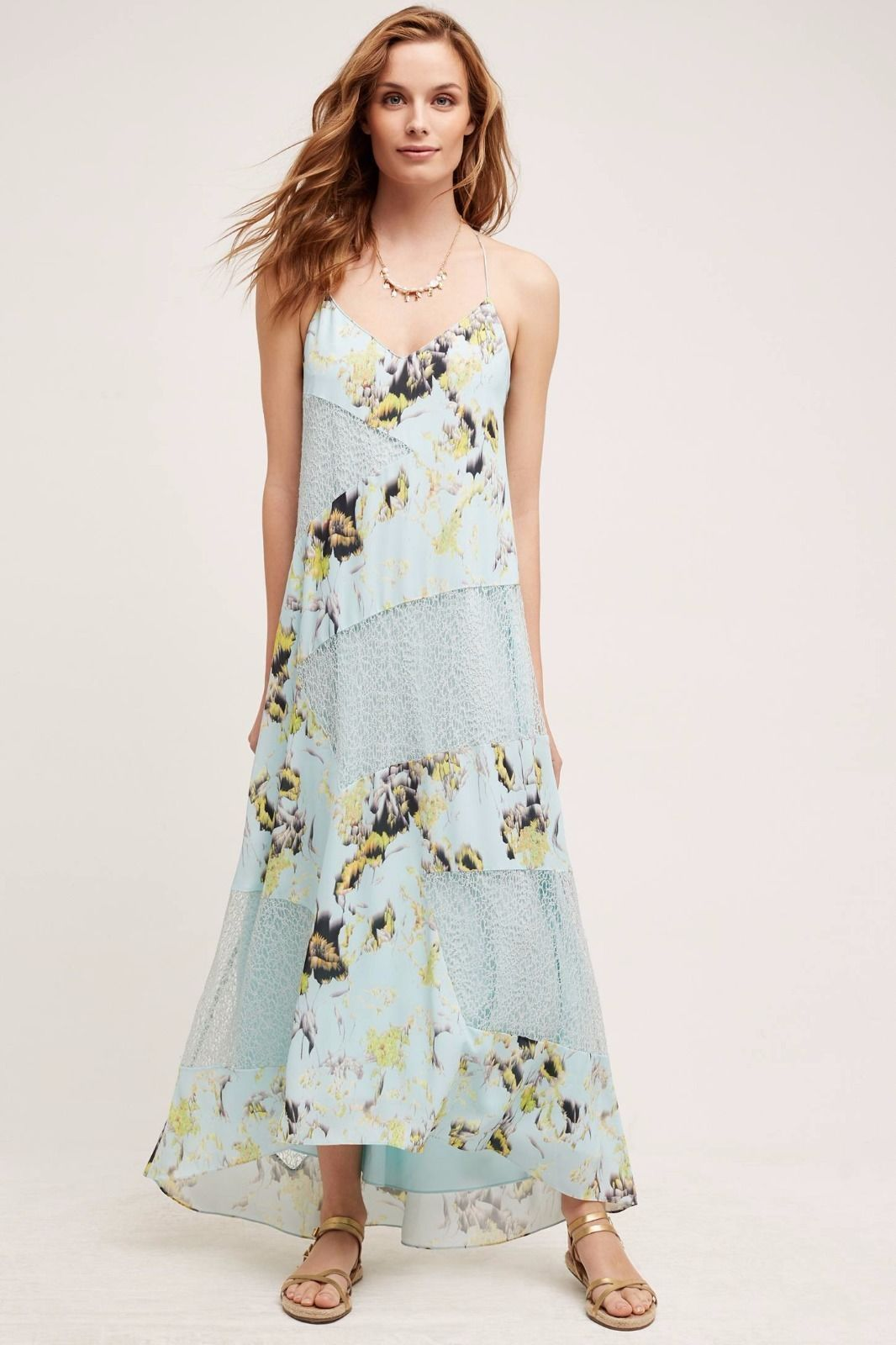 a8101cb740ea Anthropologie Rainflower Dress 12 Light Blue and 50 similar items. S l1600