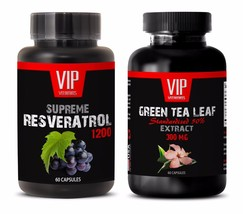 Antioxidant health - GREEN TEA EXTRACT – RESVERATROL COMBO - resveratrol... - $22.40