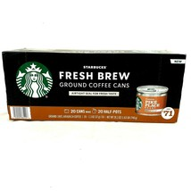 Starbucks Fresh Brew Ground Coffee Cans 20 Ct Pike Place Roast Makes 1/2 Pot Ea. - $19.39
