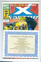 Marvel X-Factor # 71 New Team Numbered COA Signed by Larry Stroman - $12.86