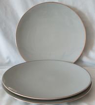 Gorham Flintridge Blue with Platinum Trim Coupe Salad Plate Set of 3 - $24.64