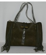 Simply Noelle Brand HB210 Sage Color Womens Fringed Toggle Loop Closure ... - $99.99