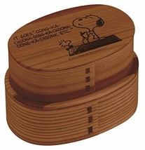 New! Traditional Bending Wood Lunch Box 2 Step 630ml Snoopy Peanuts Japa... - $74.79