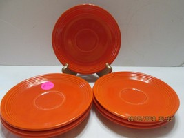 Fiestaware  SAUCERS ONLY  RED  5 Marked (3) - $23.76