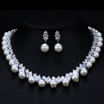 Pearl Jewelry Sets Necklace Bracelet Earrings Pearl Sets For Women Party Jewelry - $45.49
