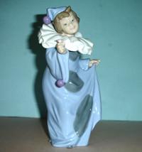 "Lladro Nao Pierrot Con Flor Girl Clown w/Flower #01094 8.25""H Hand-Paint... - $174.90"