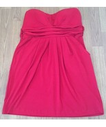Wishes Wishes Wishes Strapless Dress Size XL Red Waist Tie - $19.80