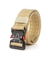 125cm MH04 3.8cm nylon belt zinc alloy tactical belt-Khaki - $19.99