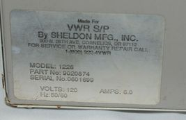 VWR SP Sheldon Manufacturing 1226 Digital Water Bath Used Parts Only image 4