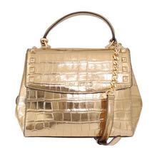 Gold KARLA Satchel Crossbody Bag - $238.50