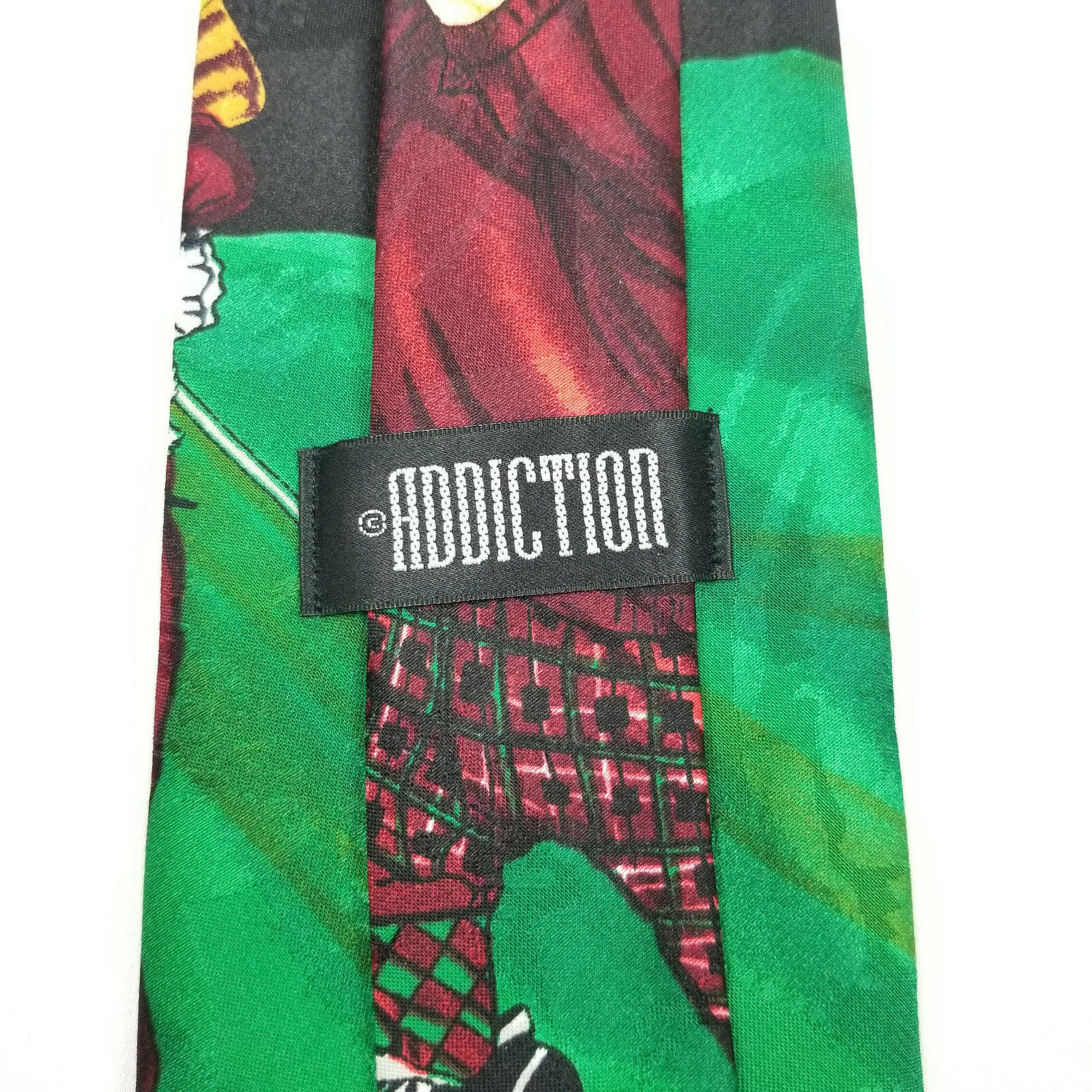 Addiction Funny Christmas Tie Golfing Santa with Elves Necktie image 4