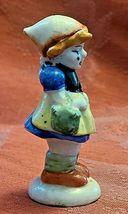 "Vintage Girl with Basket Porcelain Figurine Made in Occupied Japan 3"" image 3"