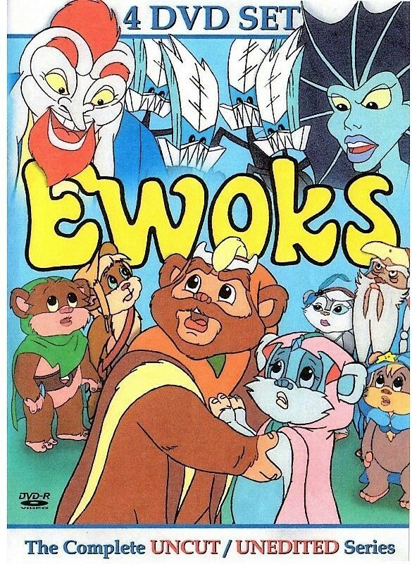 Primary image for The Ewoks Complete Unreleased 1980's Cartoon Series 4 DVD Set. Free USA Shipping